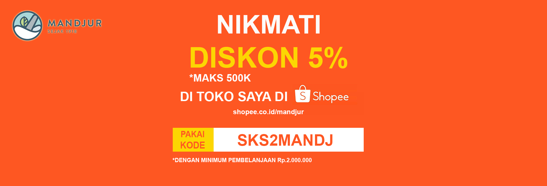 Voucher Shopee disc 5%