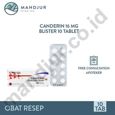 Canderin 16 Mg 10 Tablet