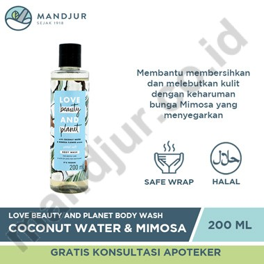 Love Beauty and Planet Body Wash Coconut Water & Mimosa Flower 200 mL
