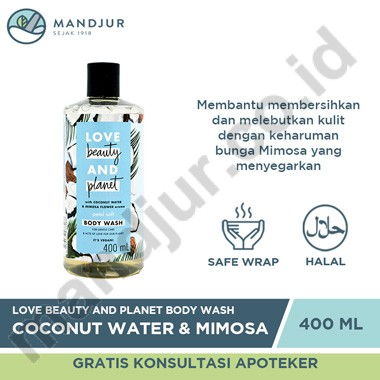 Love Beauty and Planet Body Wash Coconut Water & Mimosa Flower 400 mL