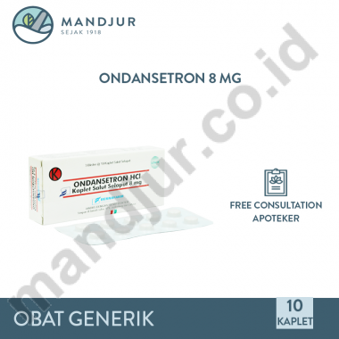 Ondansetron 8 mg Strip 10 Kaplet