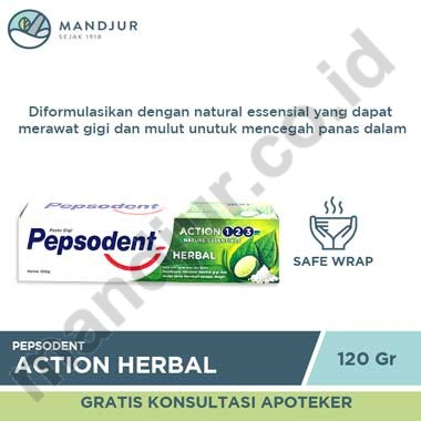 Pepsodent Action Herbal 120 Gr
