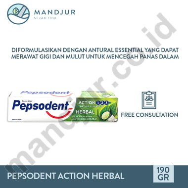 Pepsodent Action Herbal 190 Gr