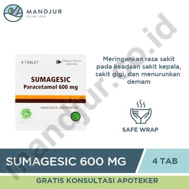Sumagesic 600 Mg 4 Tablet