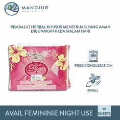 Pembalut Avail Feminine Comfort Night Use (Merah)