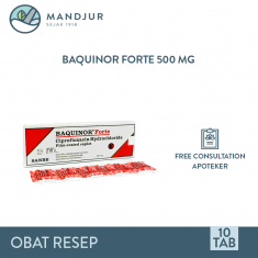 Baquinor Forte 500 Mg Strip 10 Tablet