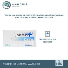 Care Plus HiFresh Calm Washlap Isi 5 Sheets