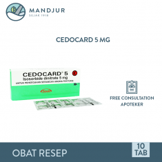 Cedocard 5 Mg Strip 10 Tablet