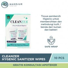 Cleanzer Hygenic Sanitizer Wipes Isi 10 Pcs