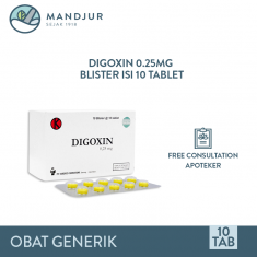 Digoxin 0.25 Mg Strip 10 Tablet