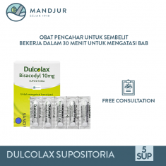 Dulcolax Adult 10 Mg 5 Supositoria