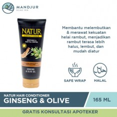 Natur Hair Conditioner Gingseng and Olive Oil 165 ML