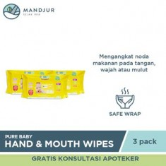 Pure Baby Combo Hand and Mouth Baby Wipes Orange