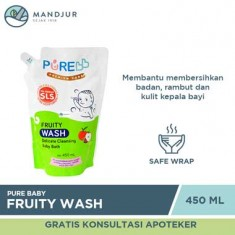 Pure Baby Wash Fruity Refill 450 mL