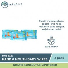 Pure Baby Combo Hand and Mouth Baby Wipes Aloe Vera