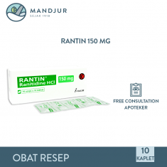 Rantin 150 Mg Strip 10 Tablet