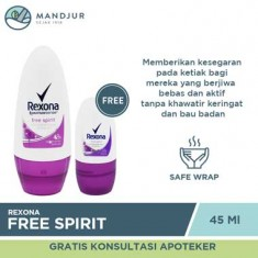 Rexona Deodorant Anti-Perspirant Roll On Free Spirit 45 ML