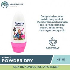 Rexona Deodorant Anti-Perspirant Roll On Powder Dry 45 ML