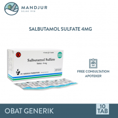 Salbutamol 4 Mg Strip 10 Tablet