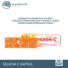 Selkom C Strip 10 Kapsul
