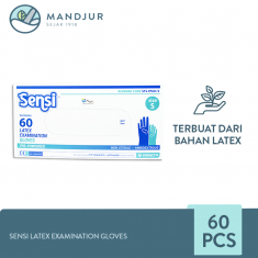 Sensi Latex Examination Gloves (Sarung Tangan Karet) Size S