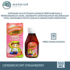 Cerebrofort Gold Rasa Strawberry 100 mL