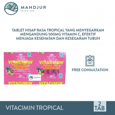 Tablet Hisap VITACIMIN Tropical Fruit Punch