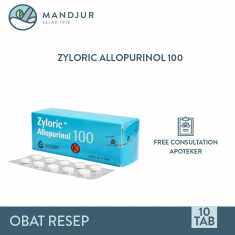 Zyloric 100 mg Strip 10 Tablet