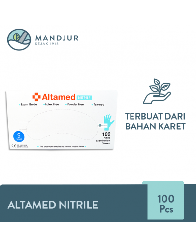 Altamed Sarung Tangan Nitrile Size S Isi 100 pcs Vector