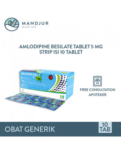 Amlodipine 5 mg Strip 10 Tablet