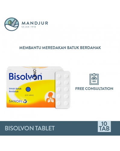 Bisolvon 8 Mg 10 Tablet