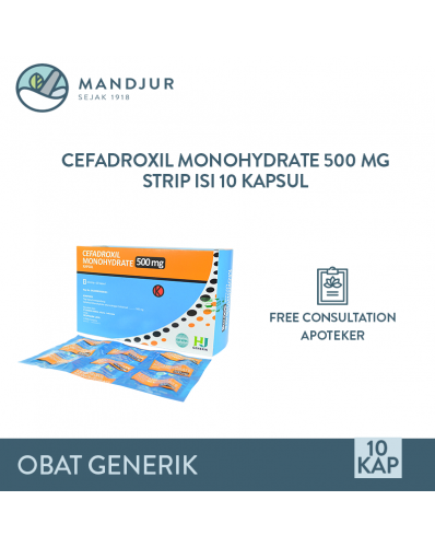 Cefadroxil 500 mg Strip 10 Tablet