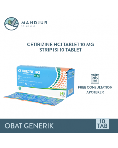 Cetirizine HCI 10 mg Strip 10 Tablet