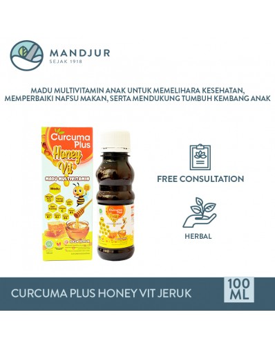 Curcuma Plus Honey Vit Jeruk 100 mL