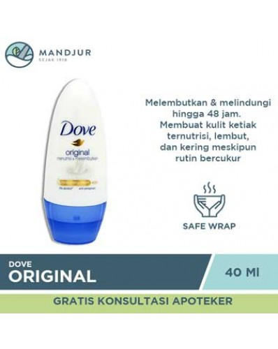 Dove Deodorant Roll On Original 40 ML