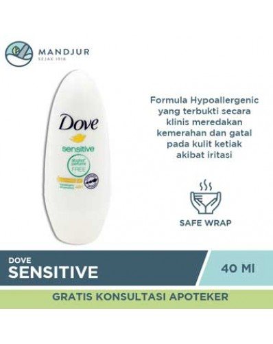 Dove Deodorant Roll On Sensitive 40 ML