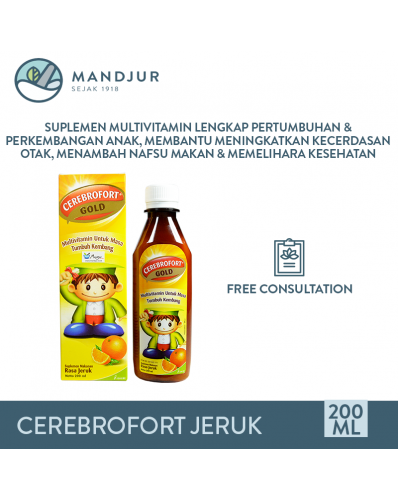 Cerebrofort Gold Rasa Jeruk 200 mL