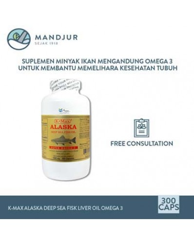 K-Max Alaska Deep Sea Fish Liver Oil Omega 3 (Isi 300)