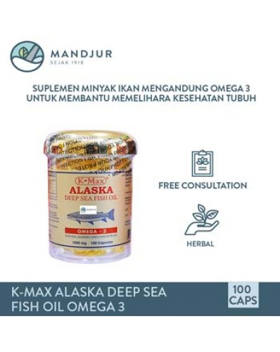 K-max Alaska Deep Sea Fish Liver Oil