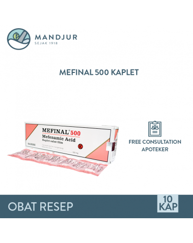 Mefinal 500 Mg Strip 10 Kaplet