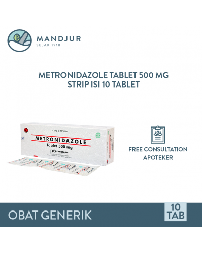 Metronidazole 500 Mg Strip Isi 10 Tablet