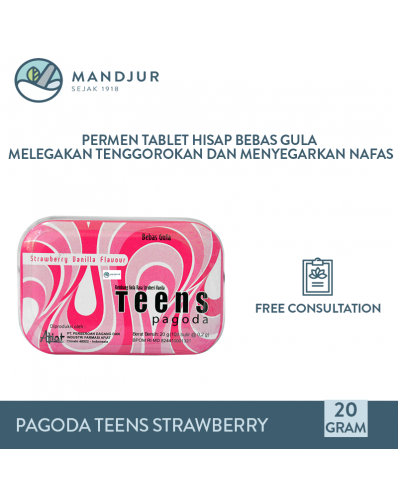 Pagoda Teens Strawberry Vanilla Flavour 20 Gram