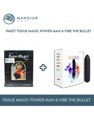 Paket Tissue Magic Power Man dan Vibe The Bullet