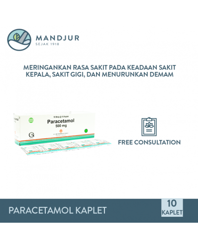 Paracetamol 500 mg Strip 10 Kaplet