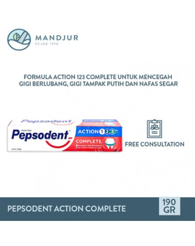 Pepsodent Action 123 Complete 190 Gr