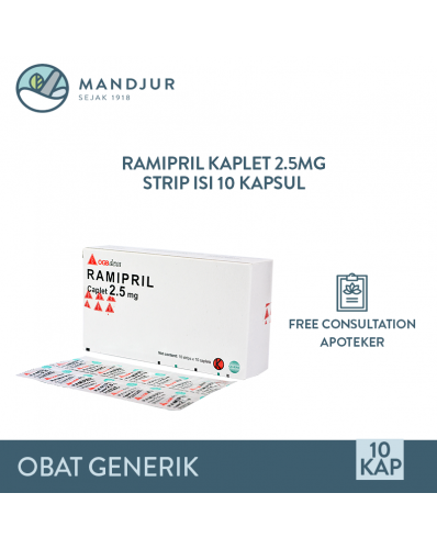 Ramipril 2.5 Mg Strip 10 Kaplet