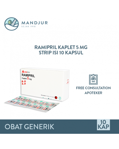 Ramipril 5 Mg Strip 10 Kaplet