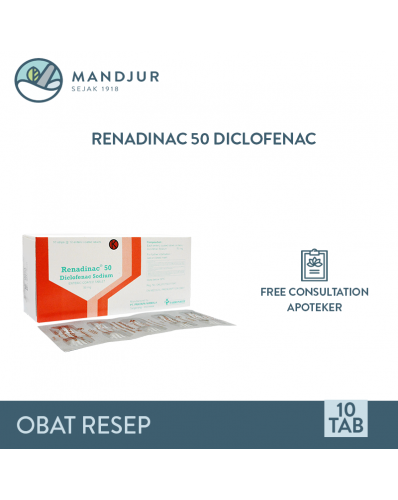 Renadinac 50 Mg Strip 10 Tablet