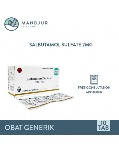 Salbutamol 2 Mg Strip 10 Tablet