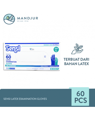 Sensi Latex Examination Gloves (Sarung Tangan Karet) Size L